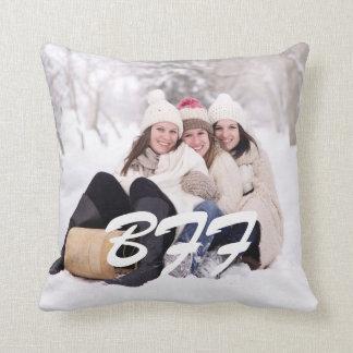 bff writing custom photo polka dots elegant throw pillow