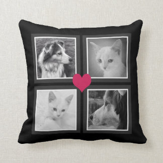 BFFs Cute Heart with Your Instagram Photos Throw Pillow