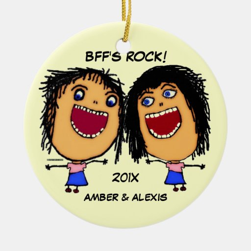 BFF's Rock Cartoon Ornament
