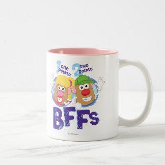 BFFs Taza De Café De Dos Colores