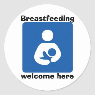 bficon-med, Breastfeeding, welcome here Stickers