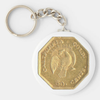 """BG-302 """"Peacock"""" Calif. Fractional Gold Keychain"""