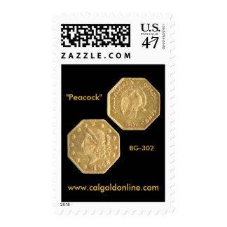 "BG-302 ""Peacock"" Postage Stamp"