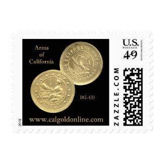"BG-435 ""Arms of California"" Postage Stamp"