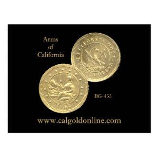 "BG-435 ""Arms of California"" Postcard"