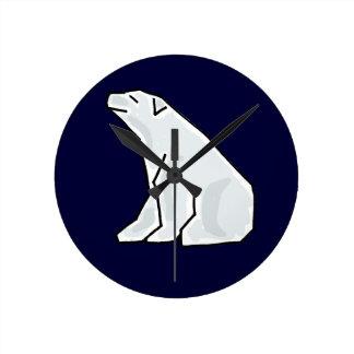 BG- Awesome Polar Bear Art Wall Clock