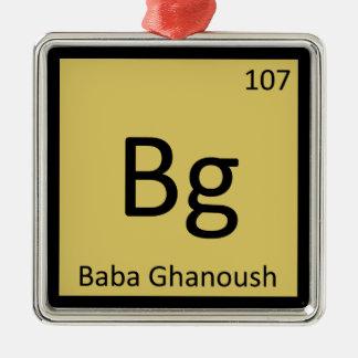 Bg - Baba Ghanoush Appetizer Chemistry Symbol Ornament