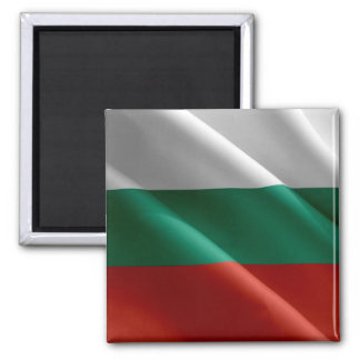 BG - Bulgaria - bandera que agita - búlgaro Imán Cuadrado