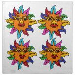 BG estilo mexicano colorido Sun del arte de la div Servilletas
