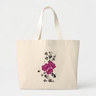 BG floral clásica Bolsa Tela Grande