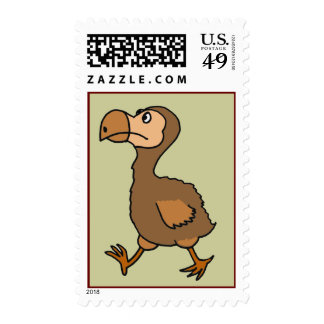 BG- Funny Dodo Bird Postage Stamps