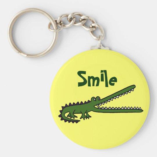 BG- Funny Smiling Crocodile Keychain