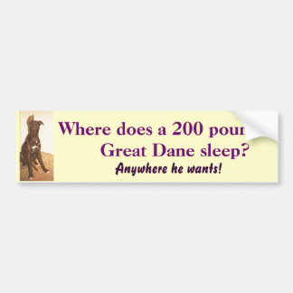 BG-  Great Dane Bumper Sticker