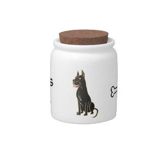 BG- Great Dane Dog Treats Jar Candy Dish