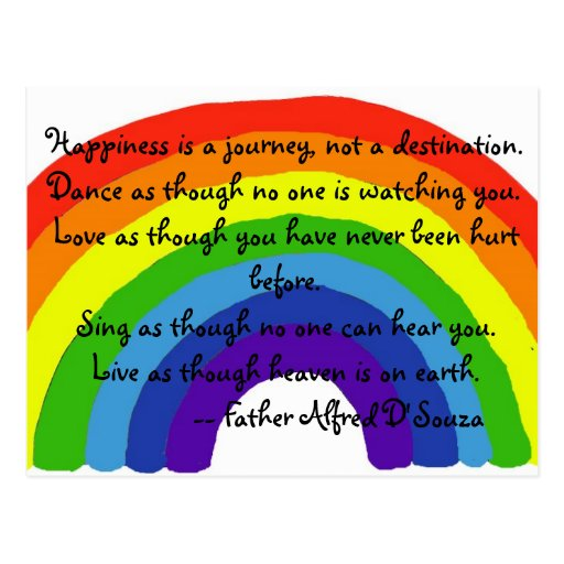 BG- Happiness is a journey Postcard