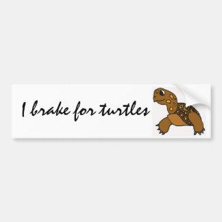 BG- I brake for turtles stickers Car Bumper Sticker