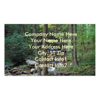 BG- Nature Stream Business Cards