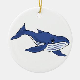 BG ornamento impresionante de la ballena azul Ornamento De Reyes Magos
