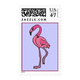 BG- Pink Flamingo stamp