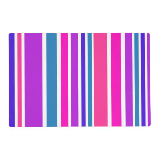 BG Stripes Pattern colored III + your backgr. Placemat