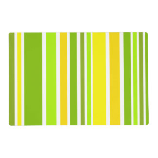 BG Stripes Pattern colored V + your backgr. Placemat