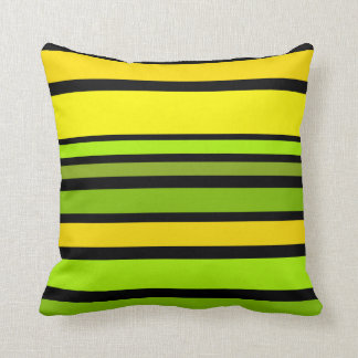 BG Stripes Pattern colored V + your background Throw Pillow