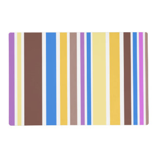 BG Stripes Pattern colored VI + your backgr. Placemat
