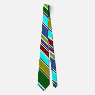 BG Stripes Pattern colored X + your background Tie