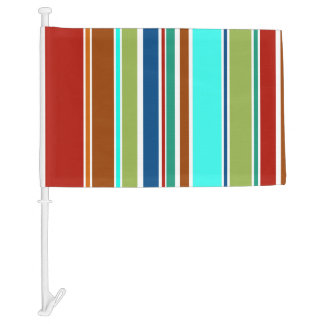 BG Stripes Pattern colored XII + your background Car Flag