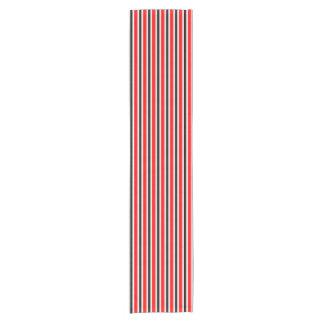 BG Stripes Pattern red black + your backgr. Short Table Runner