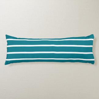 BG Stripes Pattern wride petrol + your background Body Pillow