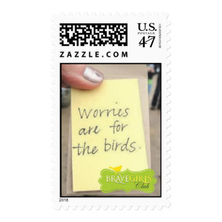 BG 'Worries are for the Birds' Postage Stamps