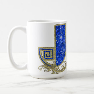 BGMJ Blue Monogram J Coffee Mug