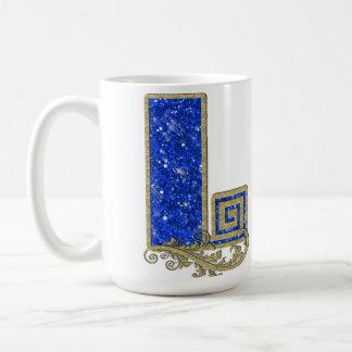 BGML Blue Monogram L Coffee Mug