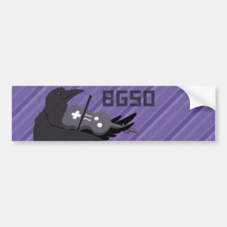 BGSO Purple Raven Logo Bumper Sticker Car Bumper Sticker