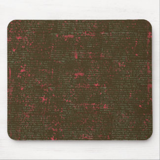 BGVPB DARK BROWN HOT PINK VINTAGE PAPER RUSTIC HIS MOUSE PAD