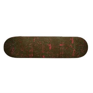 BGVPB DARK BROWN HOT PINK VINTAGE PAPER RUSTIC HIS SKATEBOARD