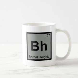 Bh - Bernal Heights San Francisco Chemistry Symbol Coffee Mug