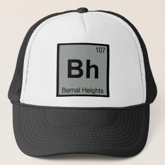 Bh - Bernal Heights San Francisco Chemistry Symbol Trucker Hat