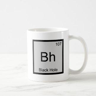 Bh - Black Hole Chemistry Element Symbol Space Tee Mugs