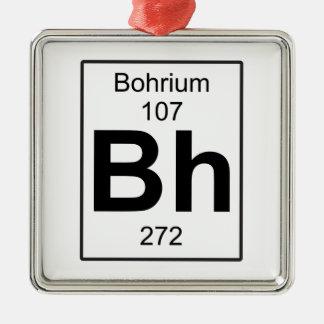 BH - Bohrium Adorno Navideño Cuadrado De Metal