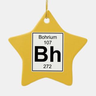 BH - Bohrium Adorno Navideño De Cerámica En Forma De Estrella