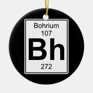 BH - Bohrium Adorno Navideño Redondo De Cerámica