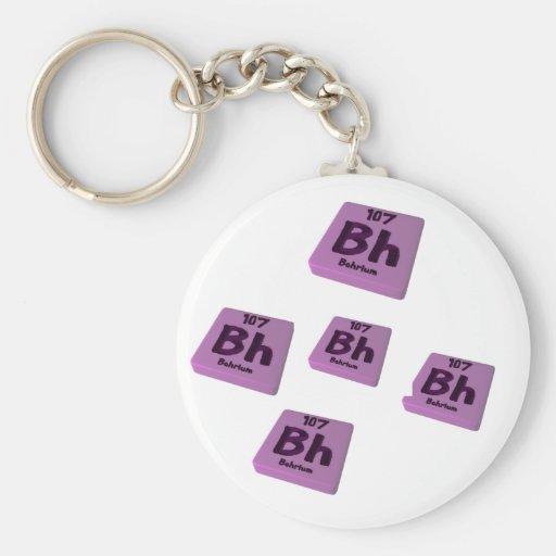 Bh Bohrium Keychain