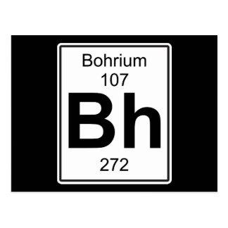 Bh - Bohrium Postcard