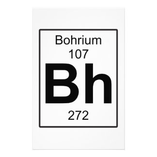 Bh - Bohrium Stationery