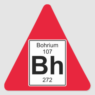 Bh - Bohrium Triangle Sticker