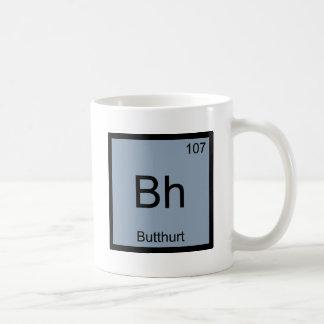 BH - Camiseta divertida del símbolo del elemento Taza Clásica