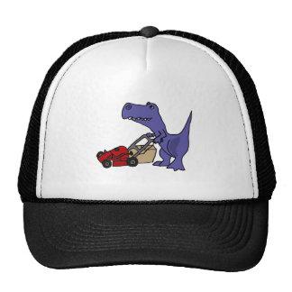 BH dinosaurio de T-rex que empuja el cortacésped Gorros