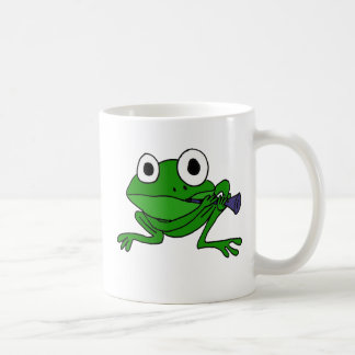 BH- Funny Frog Playing Clarinet Classic White Coffee Mug